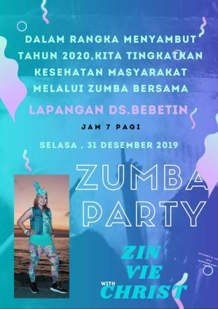 ZUMBA PARTY_SAMBUT PERGANTIAN TAHUN